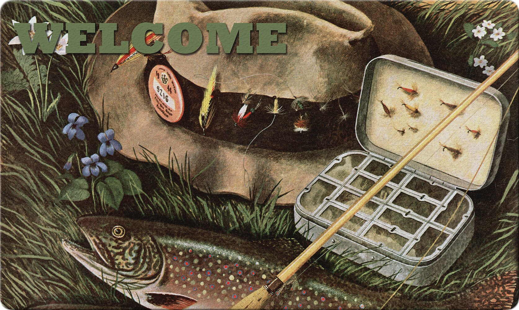 Toland Home Garden 800416 Fly Fishing Welcome Doormat, 18 x 30, Multi-Color