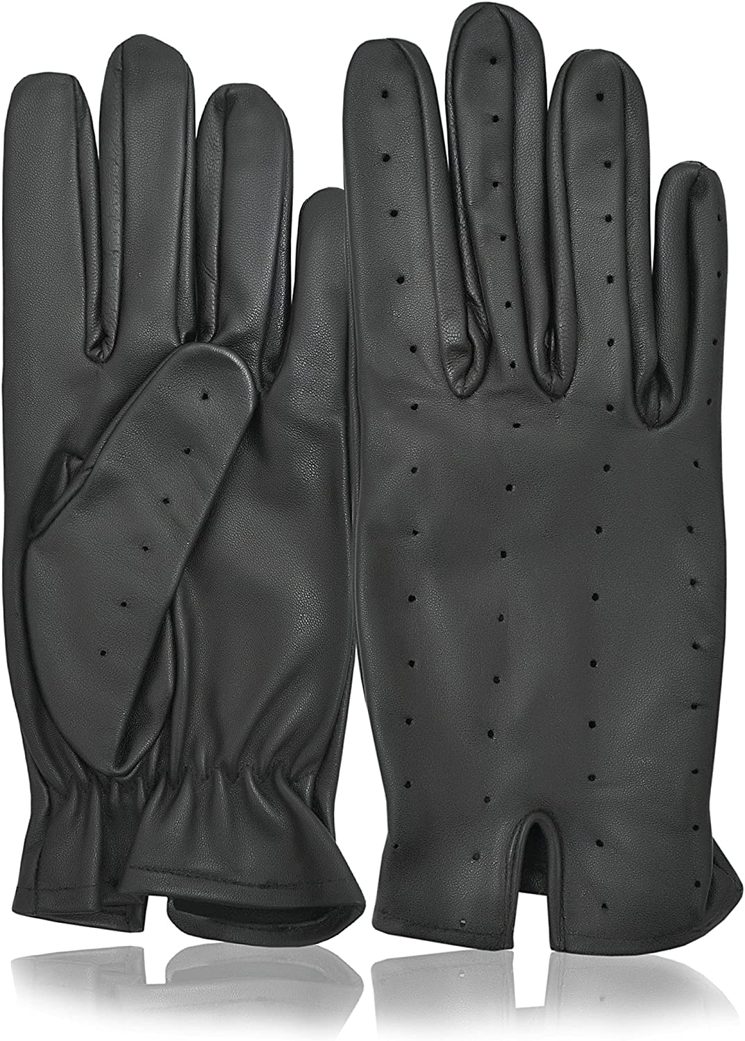 WINTER GENTS DRIVING GLOVES TOP QUALITY SOFT GENUINE REAL LEATHER BLACK  XL