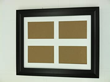18x24 black frame with white picture mat for 4 8x10 pictures or photos great hoilday