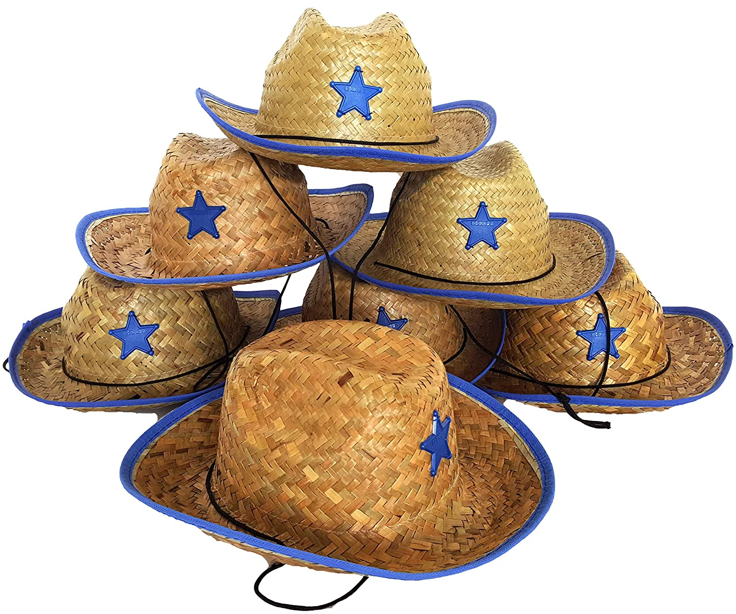 1 Dozen Pack Bulk Playscene Childrens Cowboy Hat with Sheriff Star