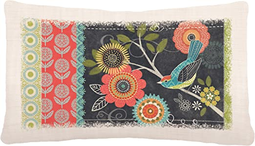 Heritage Lace Happy Day 12 X 20 Oyster Pillow Cover Bird