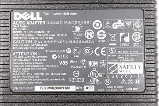 Dell AC Adapter D220P-01 12V 18A for Dell USFF PC
