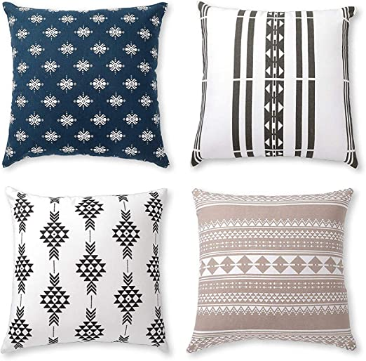 Beautiful Bohemian Embroidered Cotton Pillow Cover 20 X20 Multi color kilim Patio Pillow Boho chic decor Southwestern Pillow Christmas Decor