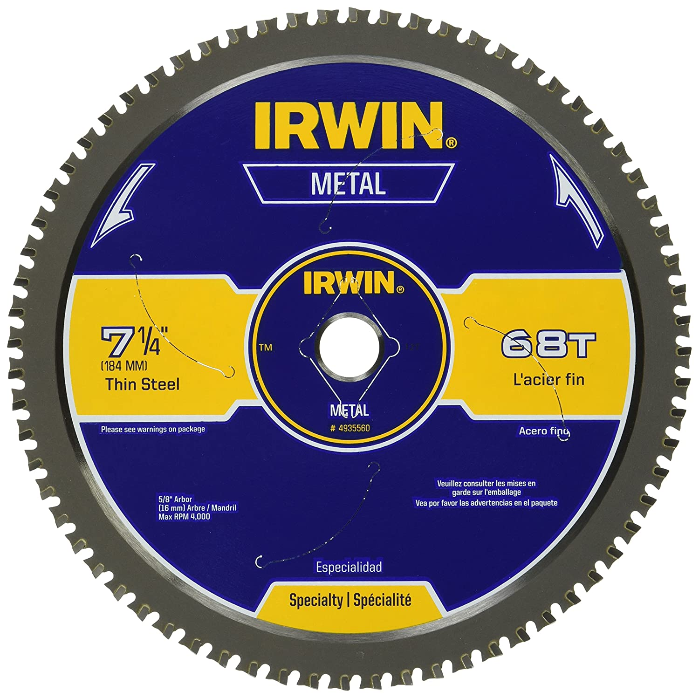 6. IRWIN Metal-Cutting Circular Saw Blade – 4935560