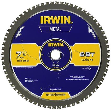IRWIN Metal-Cutting Circular Saw Blade, 7-1/4