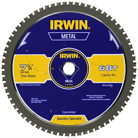 Irwin metal cutting circular saw blade 7 14 68t 4935560 metal irwin metal cutting circular saw blade 7 14quot 68t greentooth Choice Image
