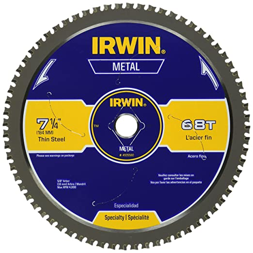 IRWIN Metal-Cutting Circular Saw Blade – Best Miter Saw Blades for Metal Cutting