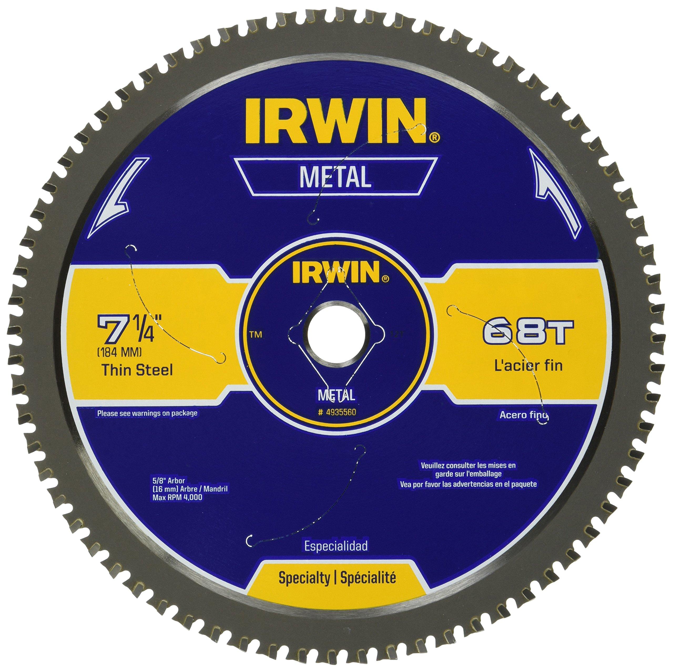 IRWIN Metal-Cutting Circular Saw Blade, 7-1/4'', 68T, 4935560
