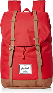 Herschel Retreat Backpack, Red/Saddle Brown, Classic 19.5L, Retreat Backpack