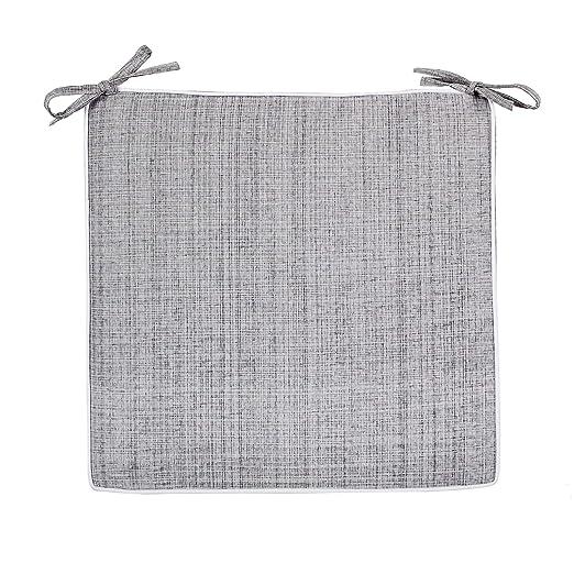 Delindo Lifestyle Cojines para sillas de exterior SAMBA gris, 2 piezas, impermeable, antimanchas, casa y jardin, 40x40 cm