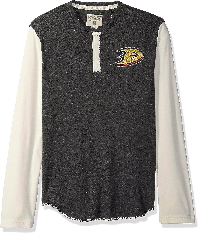 adidas NHL Mens CCM L//S Henley