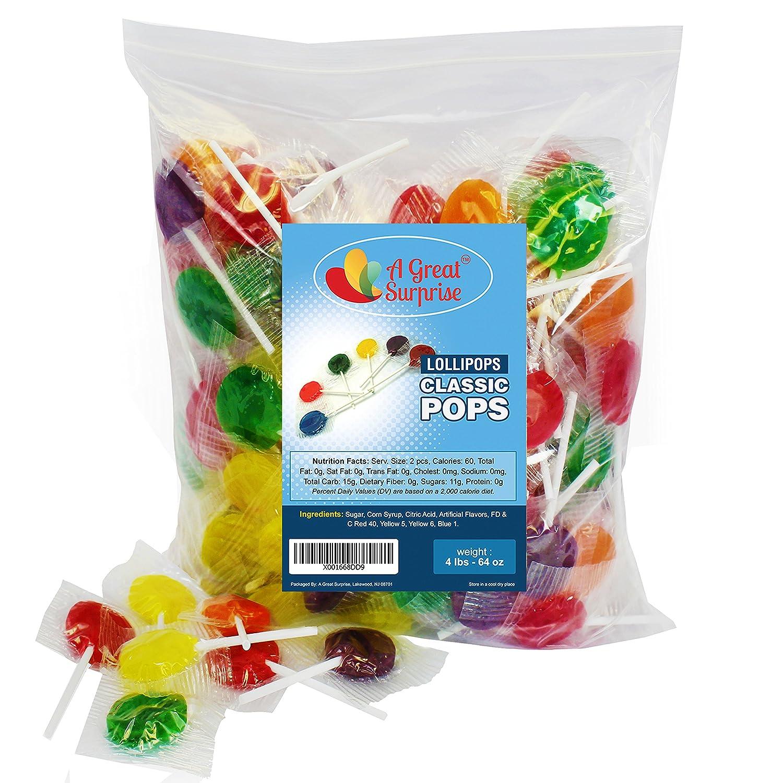A Great Surprise Piruletas - chupones de caramelo - clásicos ...