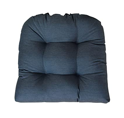 Amazon.com : RSH Decor Sunbrella Heritage Denim Wicker Chair Cushion    Indoor/Outdoor Tufted Wicker Chair Seat Cushions   Blue : Garden U0026 Outdoor
