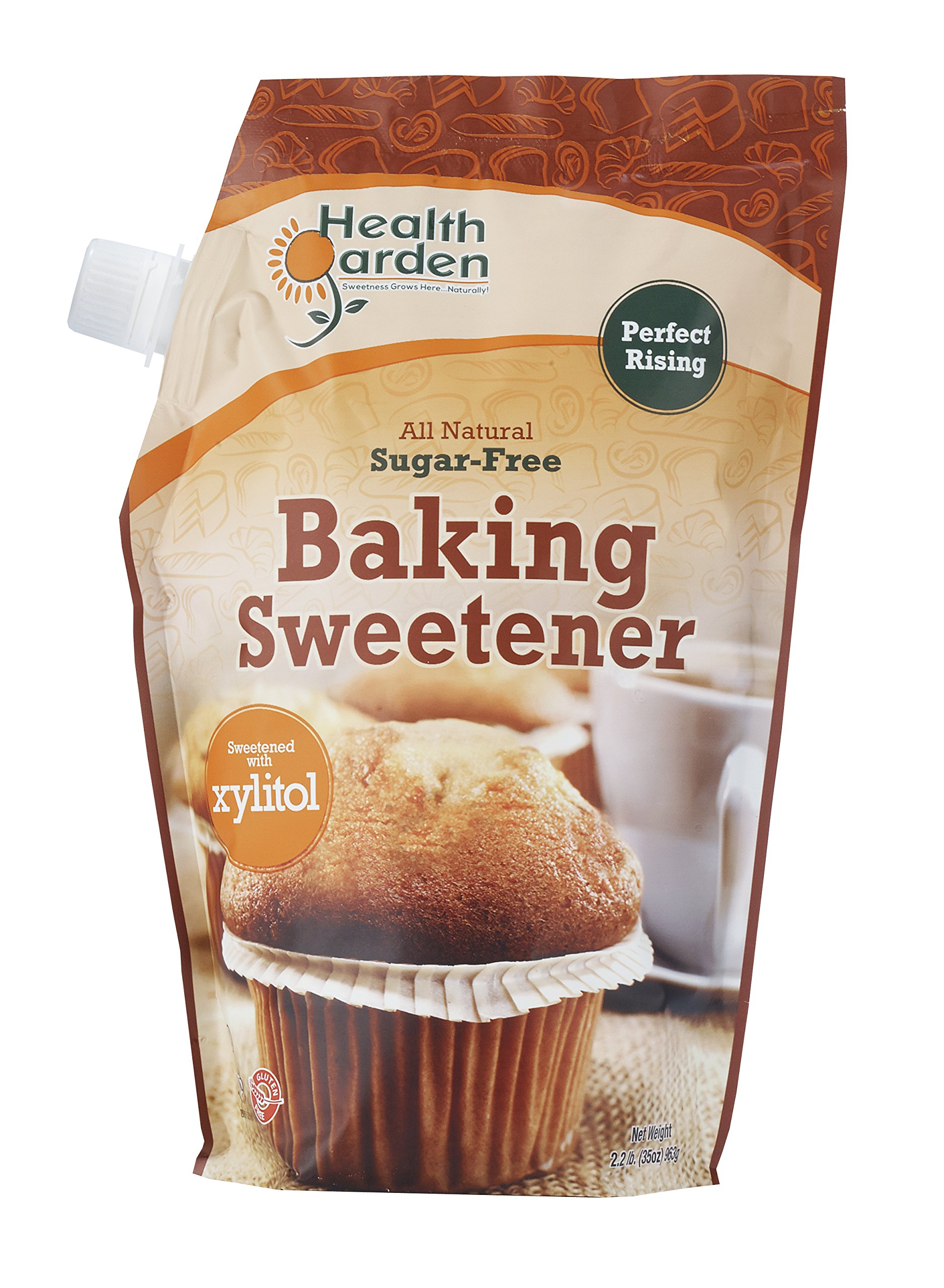 Sugar Free Xylitol Baking Sweetener, All Natural, Non GMO Sugar Replacement - 35 oz. - By Health Garden