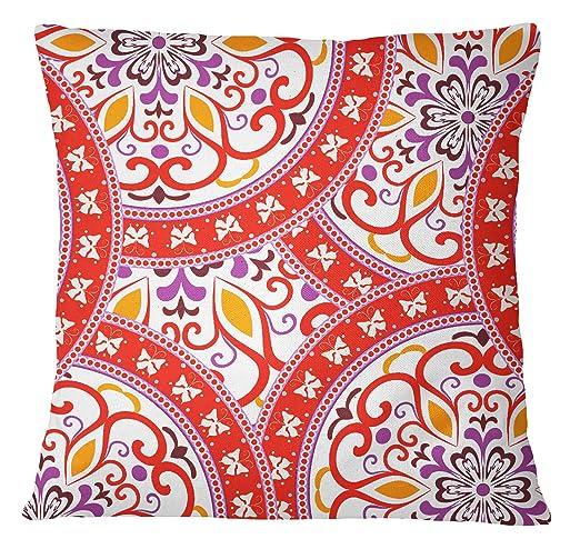 S4Sassy Mandala decorativo Imprimir Cojín cuadrado cubierta ...