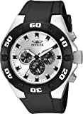 Invicta Men's Quartz Watch with Chronograph Display and PU Strap
