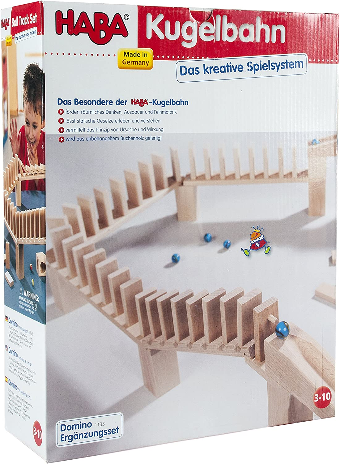 B0002HYFFC HABA Domino Bridge Set - Marble Ball Track 39 Piece Accessory Set (Made in Germany) 91KLpK7MpfL.SL1500_