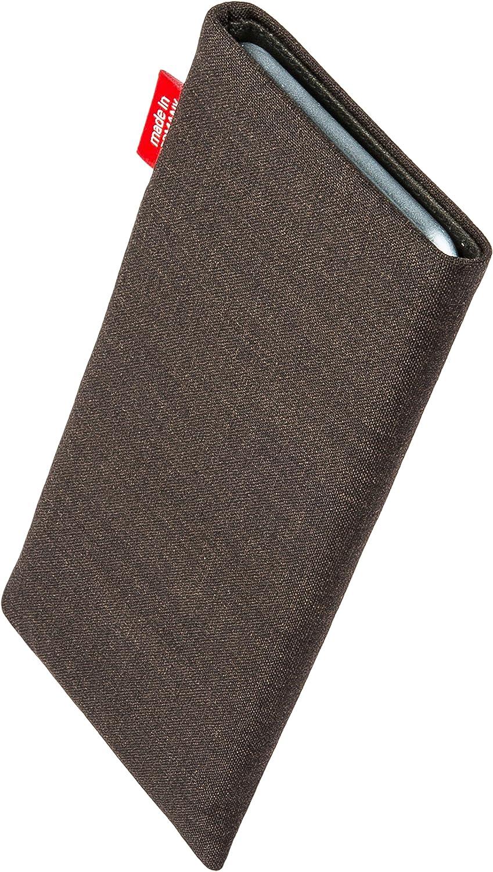 H/ülle mit Reinigungsfunktion Made in Germany fitBAG Rave Schwarz Handytasche Tasche aus Textil-Stoff mit Microfaserinnenfutter f/ür Jolla Sailfish