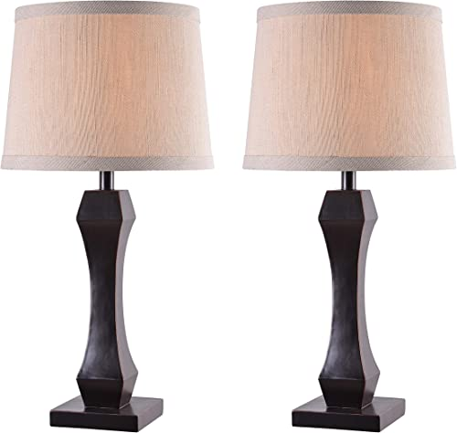 Kenroy Home Kenroy 32121ORB Traditional 2-Pack Table Lamps from Gemini Collection Dark Finish