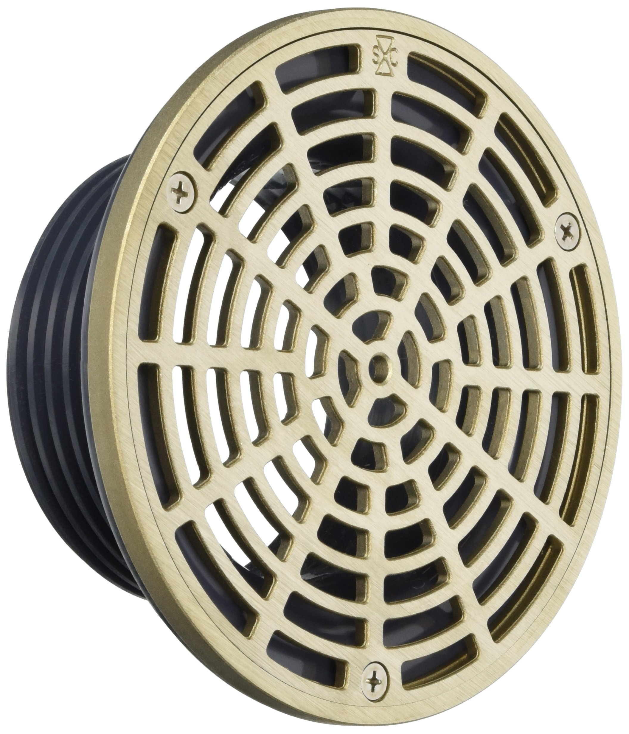 Soux Chief 832-4HNR Finish Line Adjustable Floor Drain Schlage 40 Hub Connection, 6 1/2''