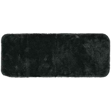 Garland Rug Finest Luxury Ultra Plush Washable Nylon Rug, 22-Inch by 60-Inch, Dark Gray