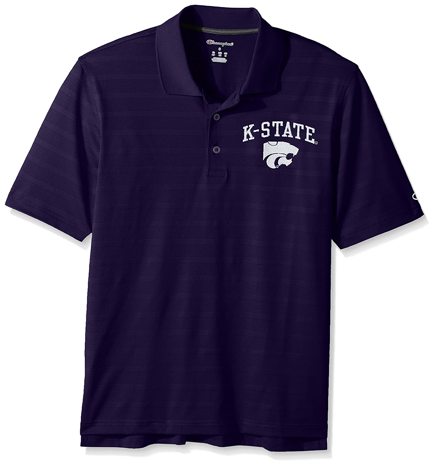 Champion NCAA Mens Textured Solid Polo