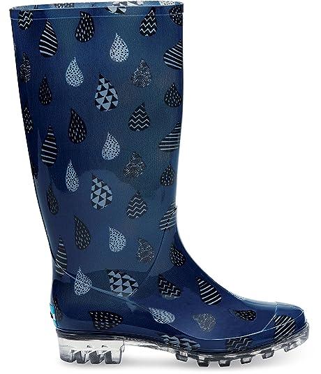 f7c948a160f Toms Cabrilla Rain Boots Blue Raindrop 10006873 Womens 10  Amazon.ca  Shoes    Handbags