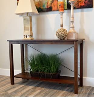 Solid Wood Rustic Sofa Table   Distressed Finish   Bronze Coast Collection    Living Room Furniture