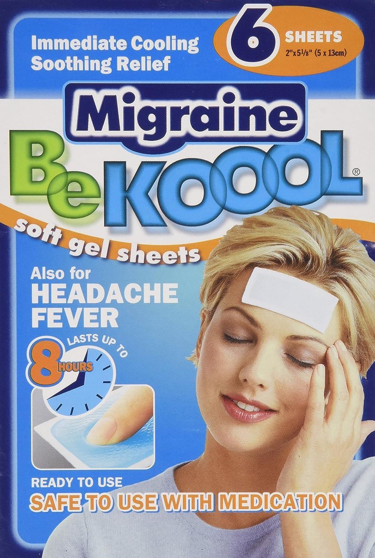 Be Koool Migraine Soft Gel Sheets