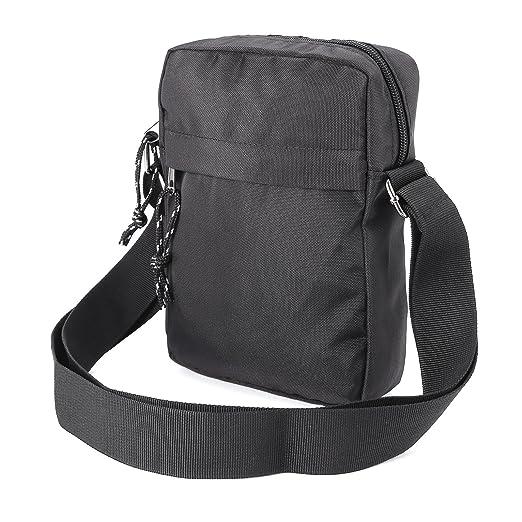 f922fd376 Mens Gents Waterproof Shoulder Bag Cross Body Messenger Travel Bag Satchel  (Black)