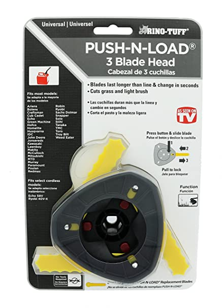 Amazon com : Rino Tuff Push n' Load Universal 3-Blade Head for Gas