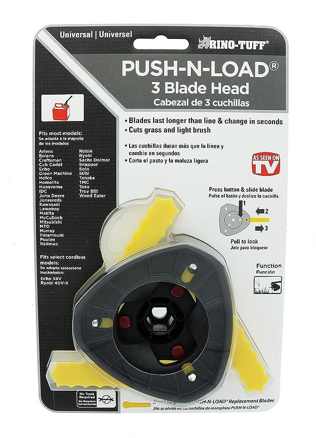 Amazon.com: Rino, Tuff Push carga 3-Blade recortador cabeza ...