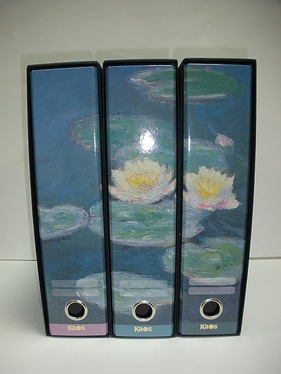 Kaos - Juego de 3 archivadores, nenúfares de Monet: Amazon.es: Electrónica