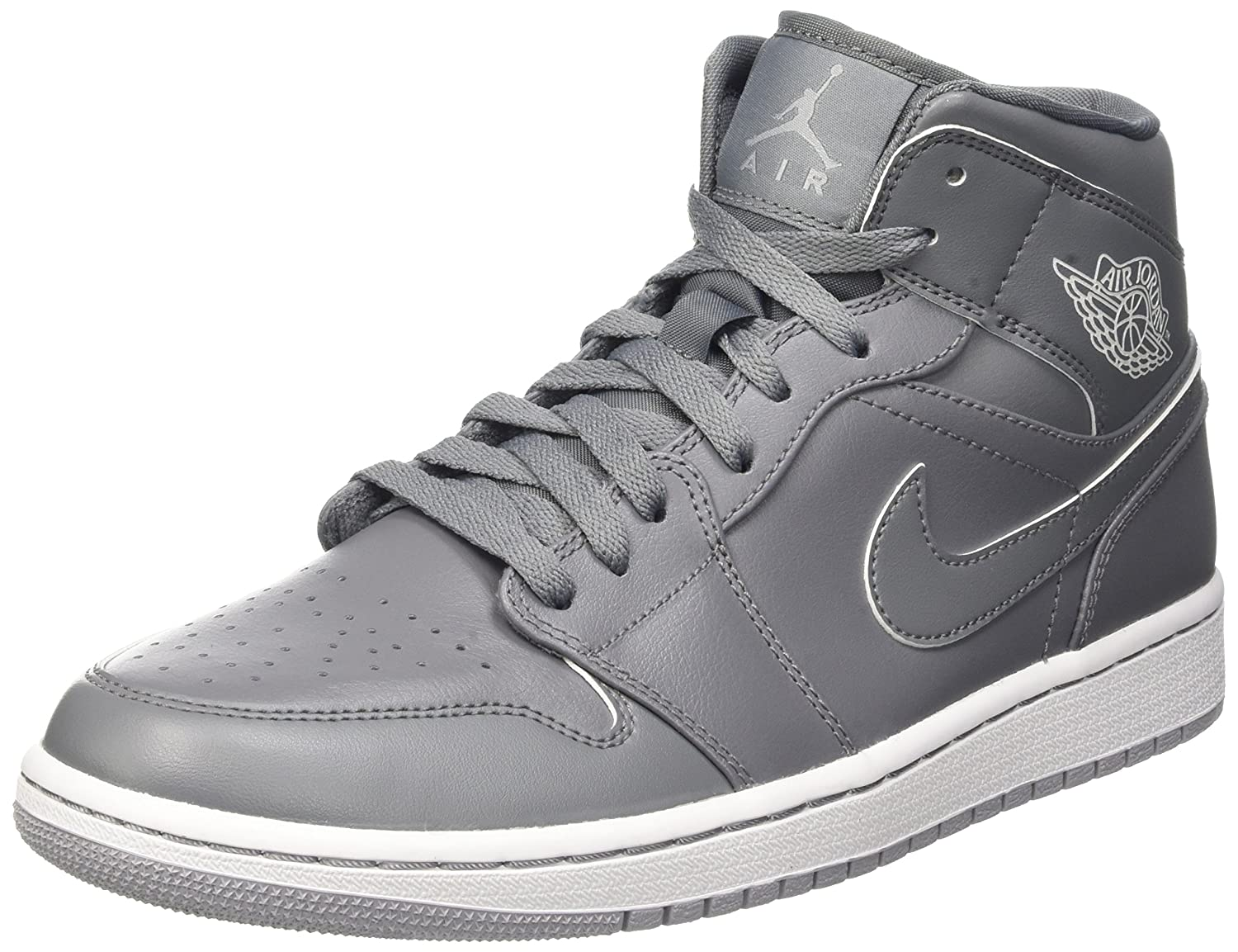 sports shoes b9418 9f186 Nike Men  s Air Jordan 1 Mid Hi-Top Sneakers