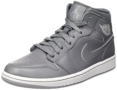 huge selection of 26543 29031 Nike Air Jordan 1 MID, Men s Hi-Top Sneakers, Multicolored (Cool Grey