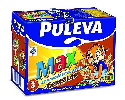 Puleva Leche Max Energía y Crecimiento con Cereales - Pack 6 x 1 L - Total