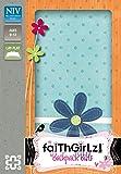 NIV, Faithgirlz! Backpack Bible, Imitation Leather, Turquoise