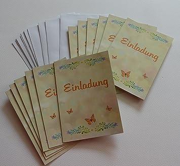 Einladungskarten Blanko (leer, Ohne Druck Bzw. Ohne Text) Im Set. Geburtstag