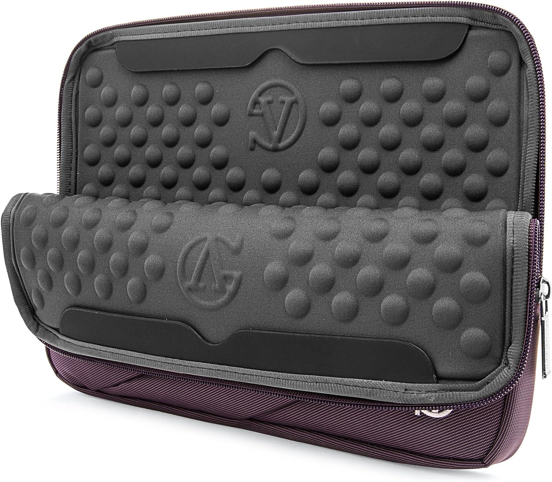 V3 V Nitro V15 Vangoddy Nylon Aero Carrying Quilted Sleeve Pink Travel Case for Acer Aspire 14 inch 15.6 inch Laptops