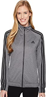 adidas Womens Designed 2 Move Track Top, Gray/Black, Large