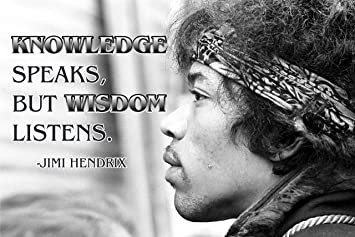 Amazon Com Jimi Hendrix Quote Poster Music Quotes Cool Posters