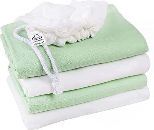 3 PACK  SOFT LARGE MUSLIN SQUARES Baby Boy Girl 100/% COTTON NEW Product of EU