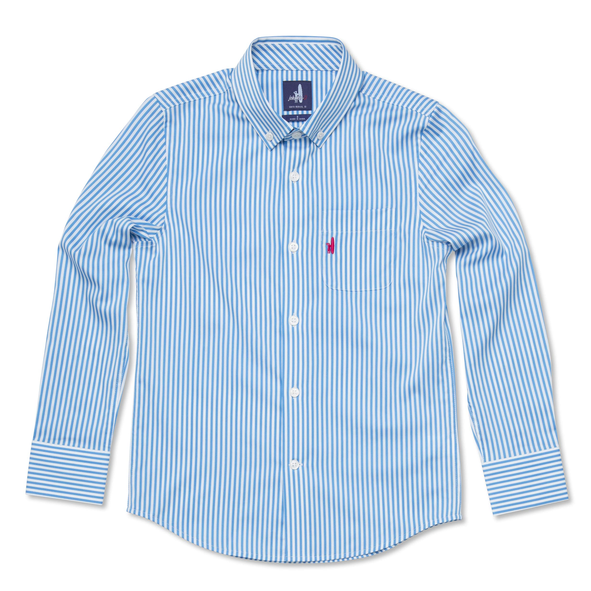 johnnie-O Boy's Nole Button-Down, Oasis, 8