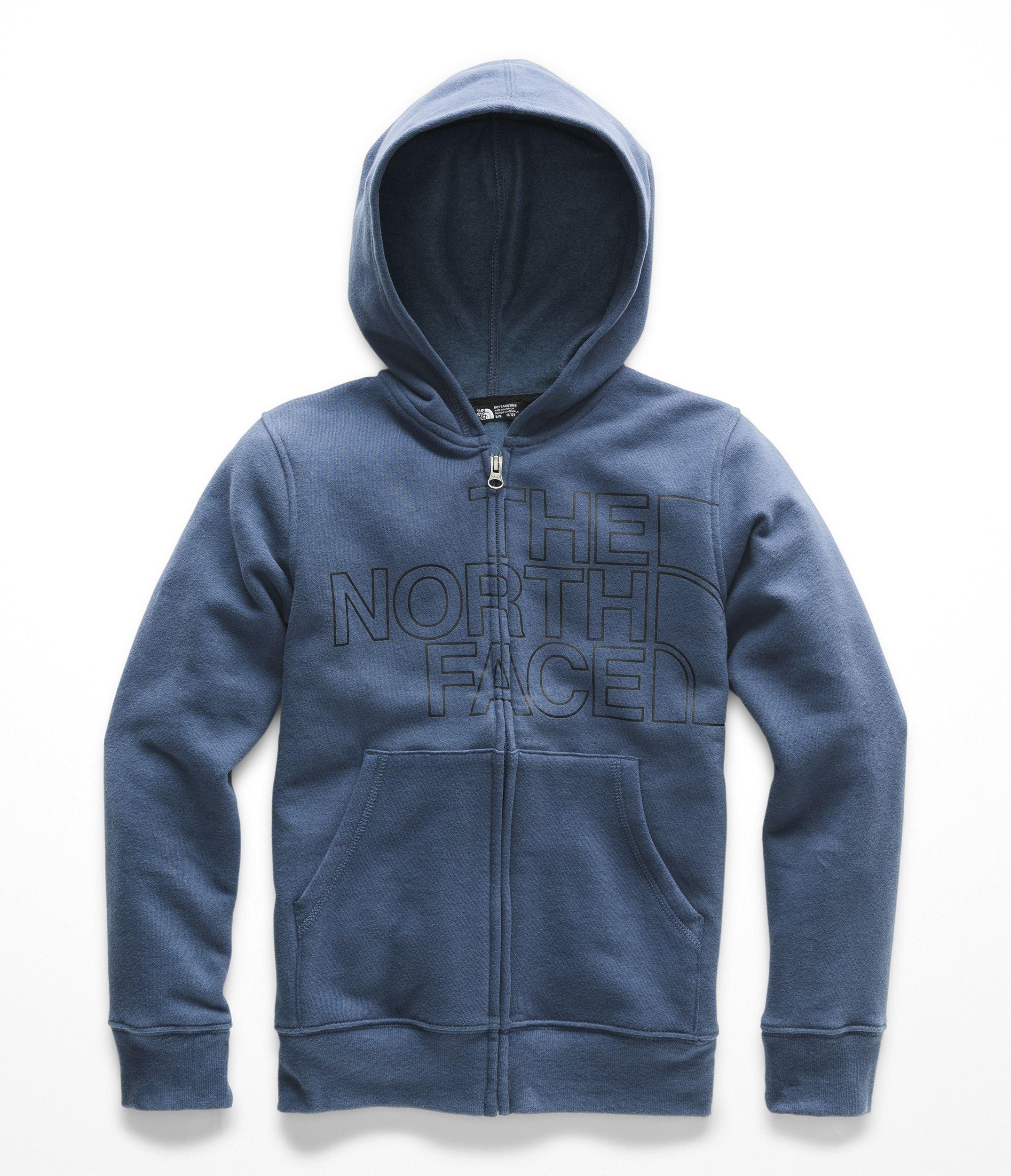 The North Face Boys Logowear Full Zip Hoodie - Shady Blue - L