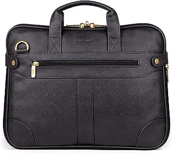 Business Messenger Bag Office Laptop Bag 15.6 Vegan Leather Expandable Laptop Briefcase