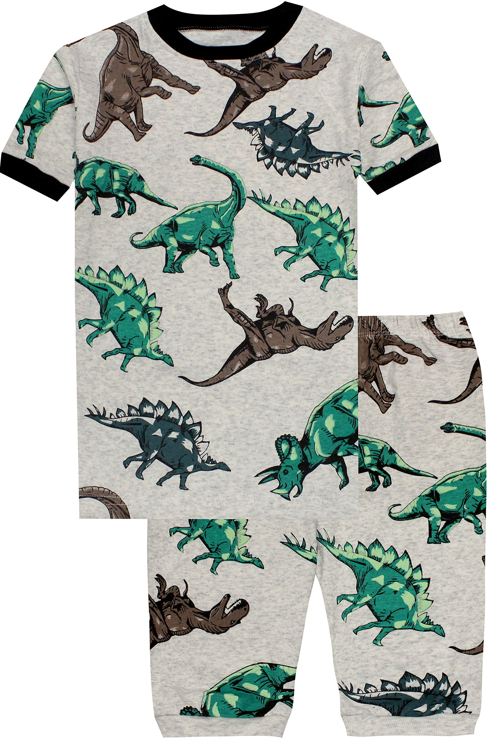 Boys Dinosaurs Pajamas Summer Children Cartoon Clothes Kids 2 Pieces Short Set Size 5 Years