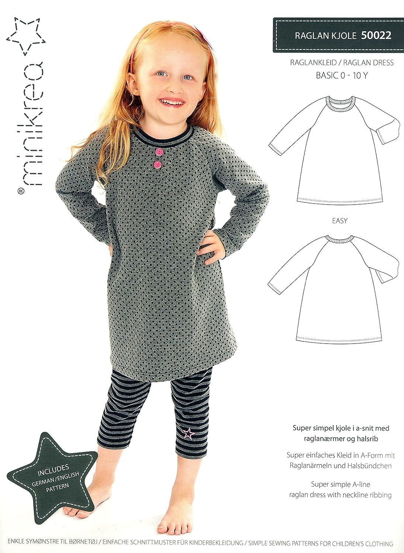 Schnittmuster Raglan-Kleid für Babys und Kinder / Einfach / Gr. 56 ...