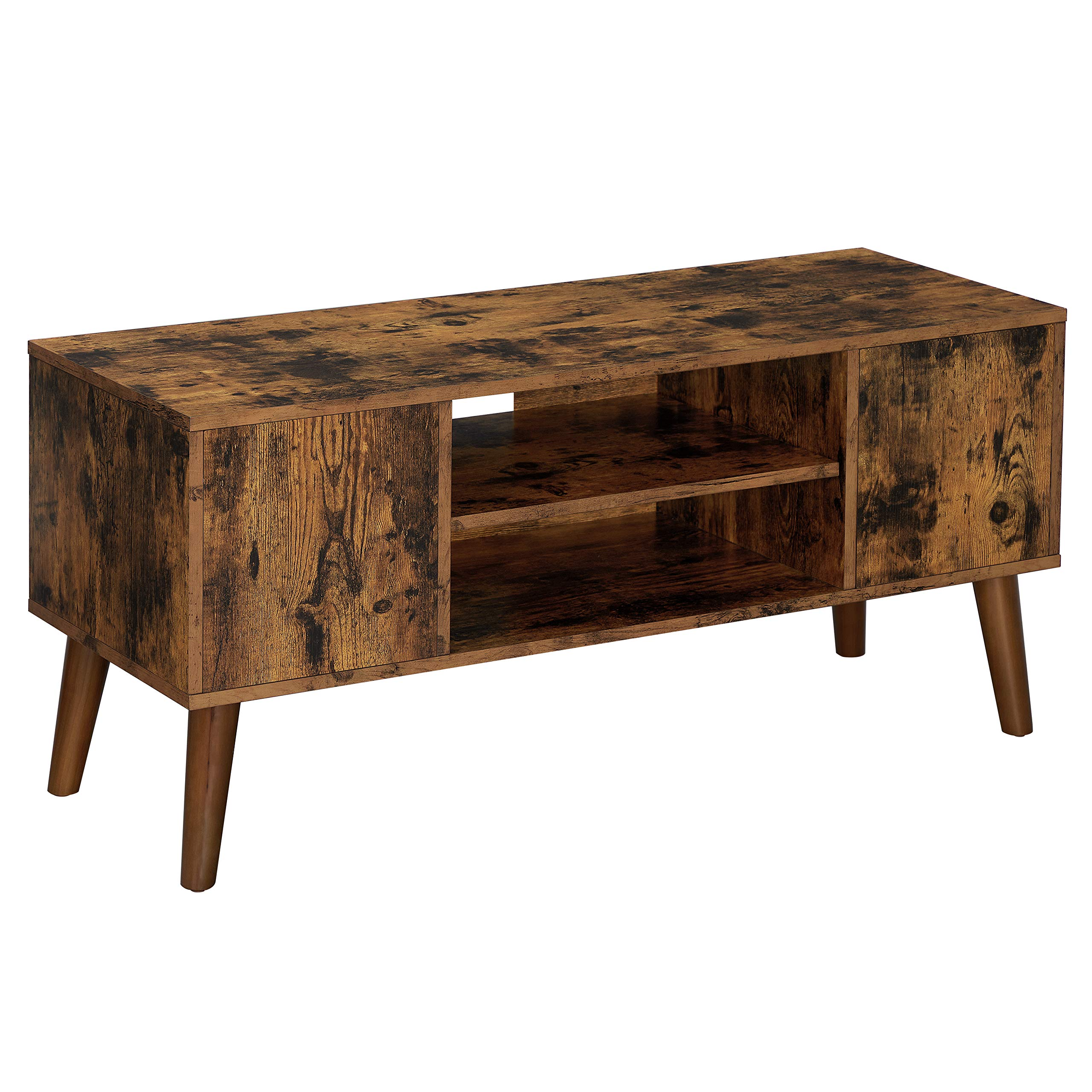 VASAGLE Retro TV Stand, TV Console, Mid-Century Modern Entertainment Center for Flat Screen TV, Cable Box, Gaming Consoles, in Living Room, Entertainment Room, Office LTV08BX