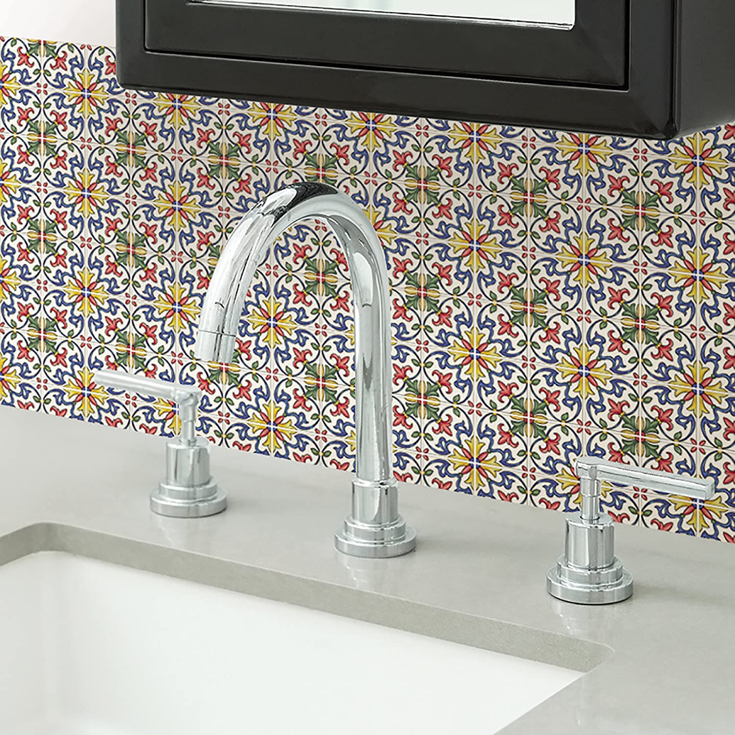 Multi-Color In Home NH2365 Tuscan Peel /& Stick Backsplash Tiles
