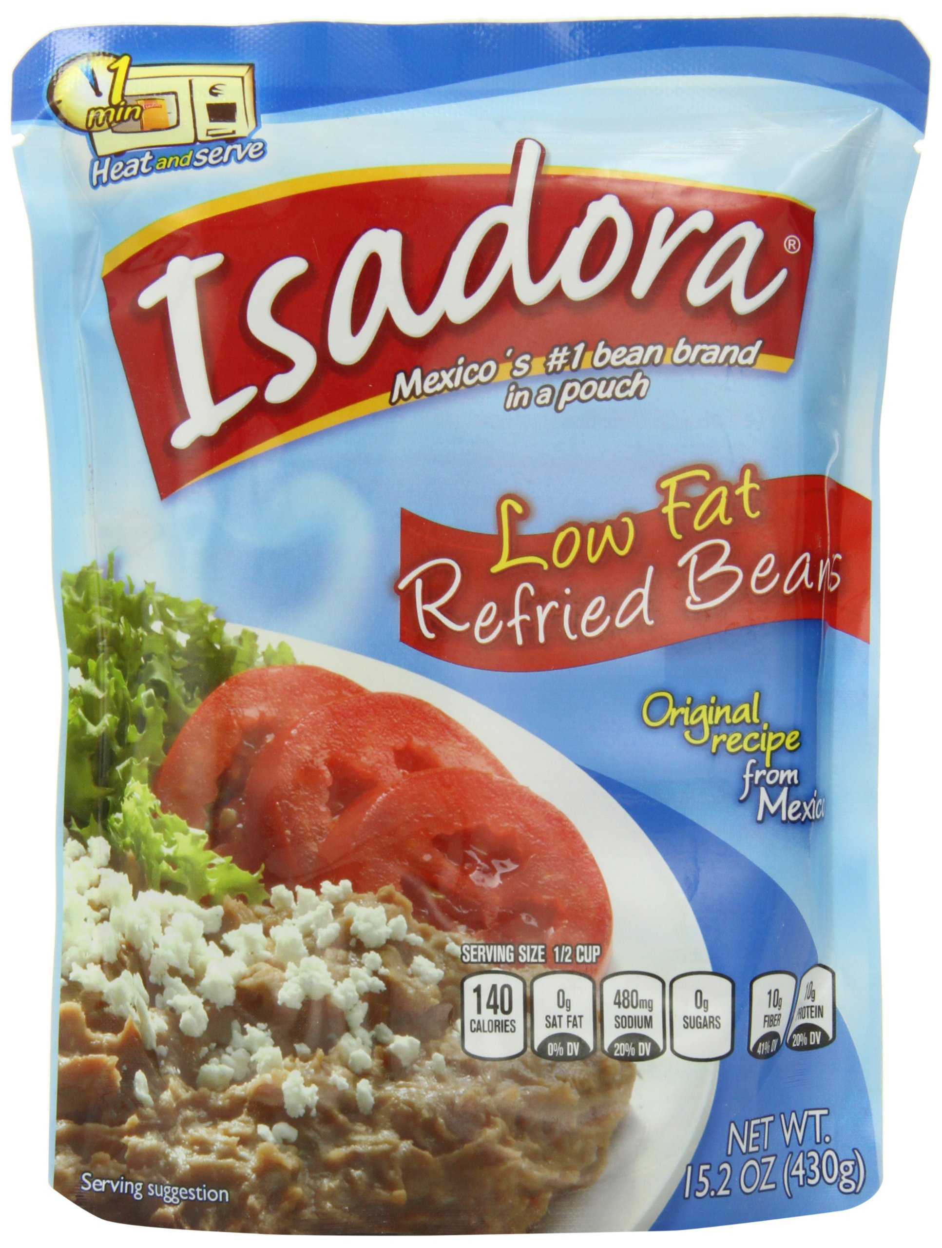 Isadora Low Fat Refried Beans, 15.2-Ounce (Pack of 8)